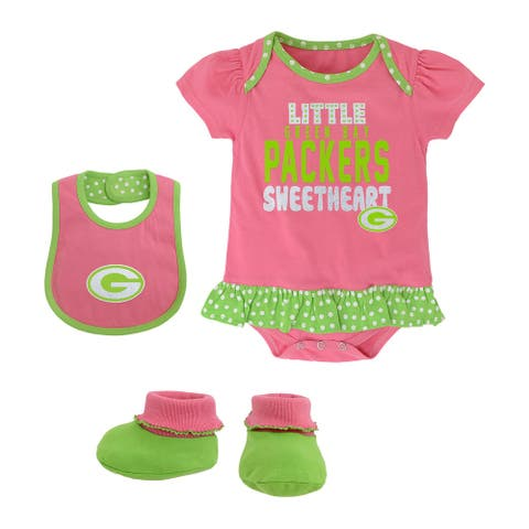 Green Bay Packers Toddler Pink Creeper Set