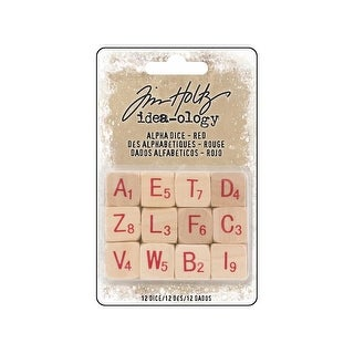 Th93654 Tim Holtz Idea Ology Christmas Alpha Dice Red
