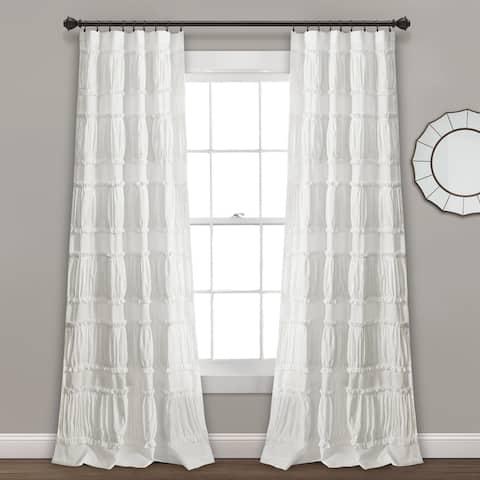 Lush Decor Nova Ruffle Window Curtain Panel Pair