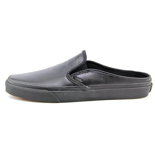 Shop Vans Classic Slip On Mule Women Round Toe Leather Black