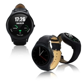 Indigi® Deluxe A6 (Unlocked) SmartWatch & Phone - Bluetooth 4.0 Sync + Android 4.4 + Pedometer + Heart Monitor + WiFi