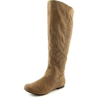 Fergalicious Anna 2 Women Round Toe Synthetic Brown Knee High Boot