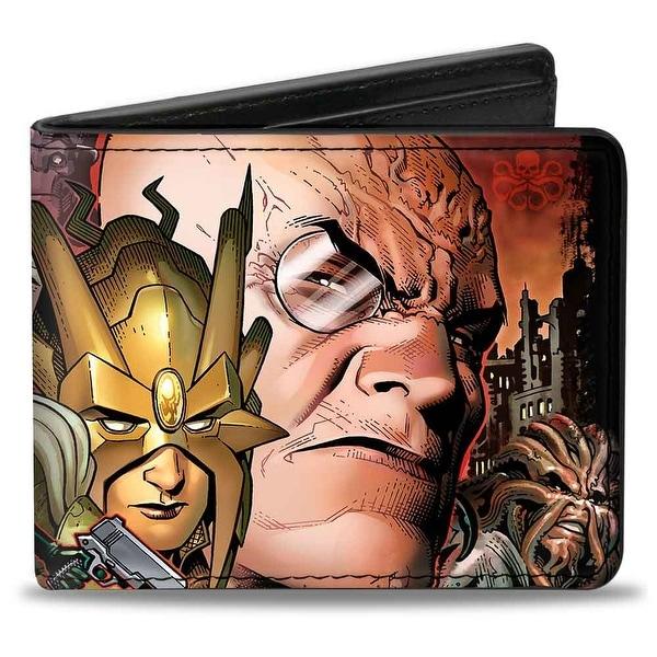 Marvel Universe Secret Warriors Dark Reign #6 Cover + Hydra Logo Bi Fold Bi-Fold Wallet - One Size Fits most