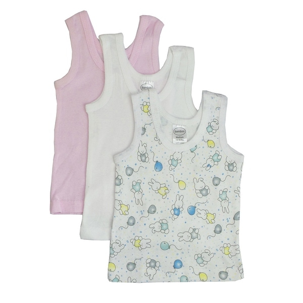 Bambini Girls Printed Tank Top Variety 3 Pack - Size - Large - Girl