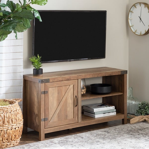 The Gray Barn Firebranch 44-inch Barn Door TV Console. Opens flyout.