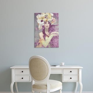 Easy Art Prints GraphINC's 'Flower Lady' Premium Canvas Art
