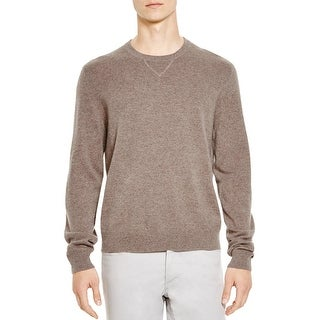 Bloomingdales Mens Slim Fit Cashmere Crewneck Sweater Large L Toasted Almond