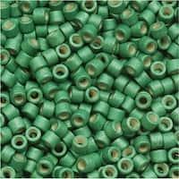Miyuki Delica Seed Beads, 11/0 Size, 7.2 Grams, Galvanized Matte Dark Mint Green DB1171