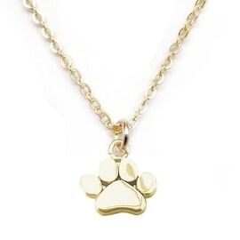 """Julieta Jewelry Paw Gold Charm 16"""" Necklace"""