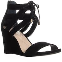 A35 Karlii Lace-Up Wedge Sandals, Black - 8 us
