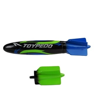 "10"" Black, Blue and Green Toypedo Max Underwater Swimming Pool Toy"