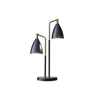 "Adesso 3464 Chelsea 1 Light 17"" Tall Gooseneck Desk Lamp with Metal Shade - Black"