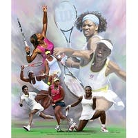 ''Ladies of the Court'' by Wishum Gregory African American Art Print (24 x 20 in.)