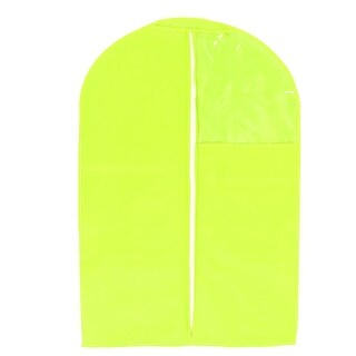 Home Dustproof Hanging Protector Zippered Clothing Cover Bag Yellow 56 x 87cm