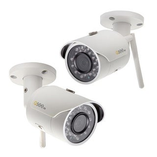 Q-See 2 Pack Add-On Wi-Fi 3MP Bullet Security Cameras