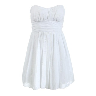 Speechless Womens Juniors Eyelet Strapless Casual Dress - 11