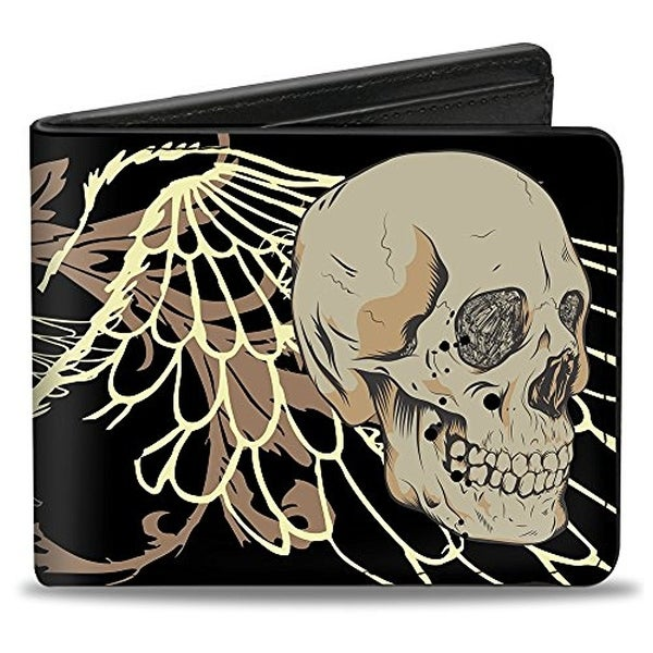 Buckle-Down Bifold Wallet Skulls