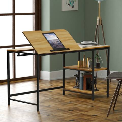 Merax 55 Inch Multi-Function Drafting Table, Drawing Table with Adjustable Tiltable Stand Table Board