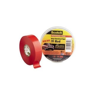 3M 10810-DL-2W Scotch 35 Electrical Tape - Red Elc Tape
