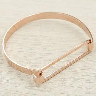Mad Style Gold Clarity Hinge Bracelet