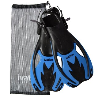 Ivation Kids Adjustable Speed/Swim Fins - for Diving,Snorkeling, Swimming & Water Sports (Medium)