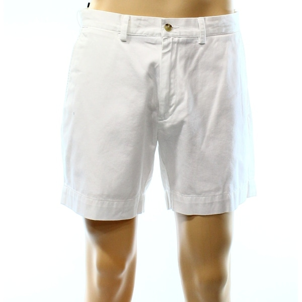 Polo Ralph Lauren NEW White Mens Size 42 Flat-Front Khakis Shorts
