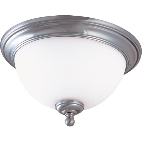 """Nuvo Lighting 60/1805 Glenwood 2 Light 13"""" Wide Flush Mount Ceiling Fixture with Satin White Glass Shade"""