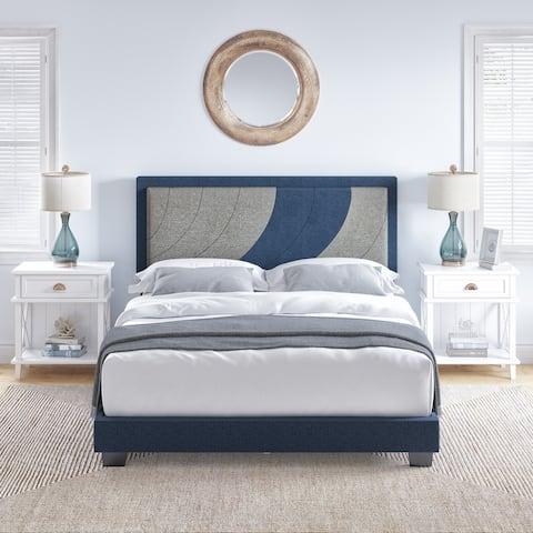 Sleep Sync Oceanic Linen Platform Bed