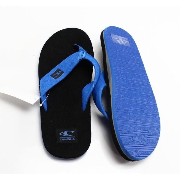 Lacoste NEW Blue Yellow Rubber Sandals Men's Shoes Size 11 Flip-Flops