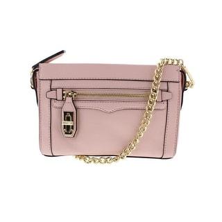 Rebecca Minkoff Womens Leather Lined Crossbody Handbag - Quartz - Medium