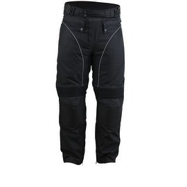 Motorcycle Cordura Waterproof Riding OverPants Black with Removable CE Armor PT1