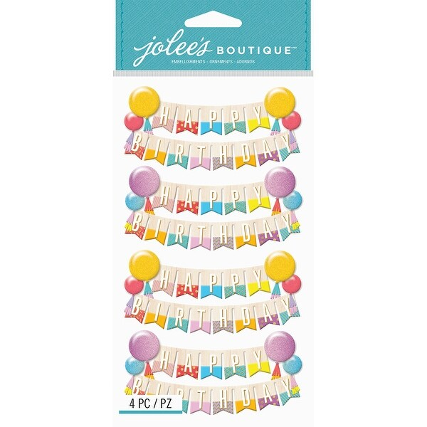 shop jolee s boutique dimensional stickers happy birthday banners
