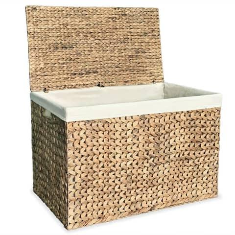 "vidaXL Laundry Basket 32.3""x16.7""x20.7"" Water Hyacinth"