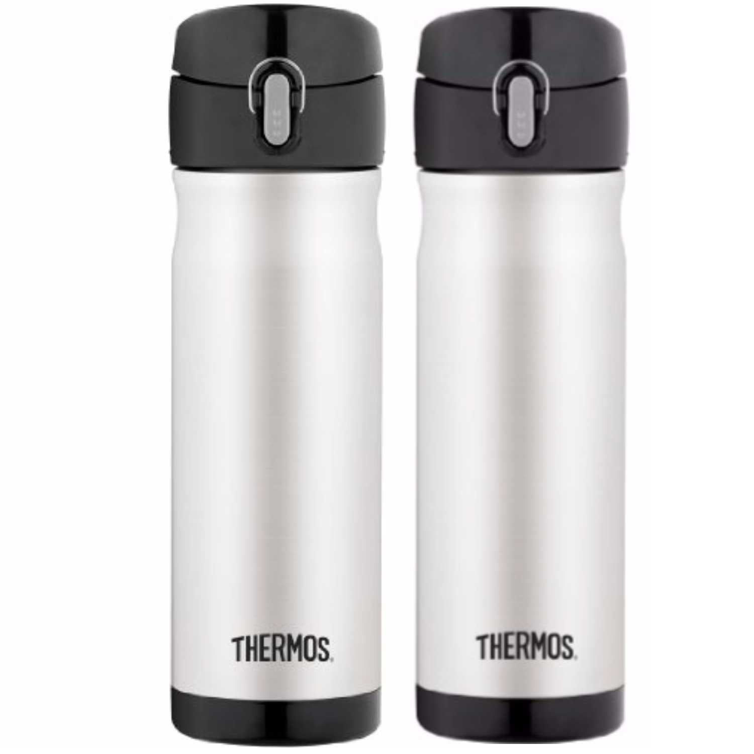79c9664b26 Shop Thermos Vacuum Insulated 16 Oz Stainless Steel Commuter Bottle  (2-Pack) - Free Shipping On Orders Over $45 - Overstock.com - 23059235