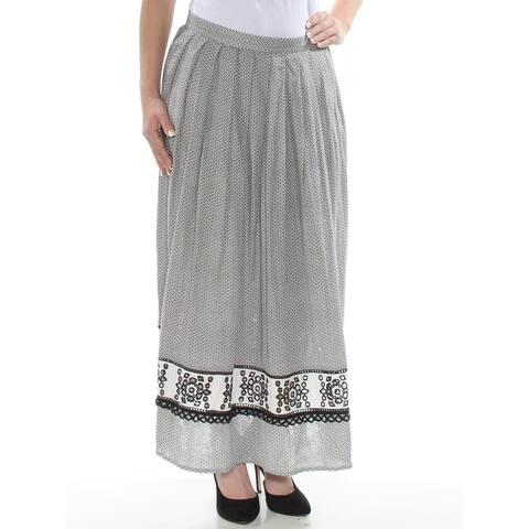 MAX STUDIO Womens Black Printed Maxi A-Line Skirt Size 4