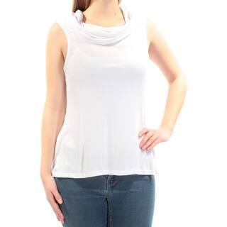 213c6dd213c8ef Womens White Sleeveless Cowl Neck Top Size M