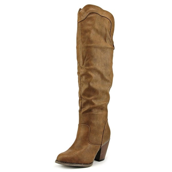 Vybe Rodeo Women Pointed Toe Synthetic Brown Knee High Boot