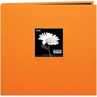 """Orange - Book Cloth Cover Post Bound Album 8""""X8"""""""