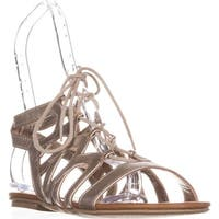 AR35 Marlie Flat Lace-Up Sandals, Gold