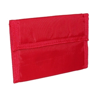 CTM® Kids' Solid Color Nylon Trifold Wallet with Fabric Hook and Loop Closure - One Size