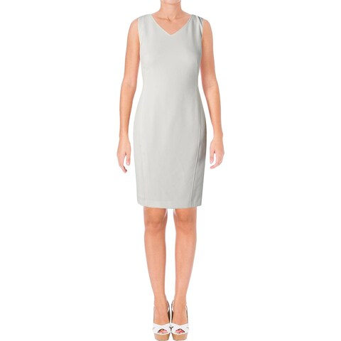Kasper Womens Wear to Work Dress Textured Sleeveless