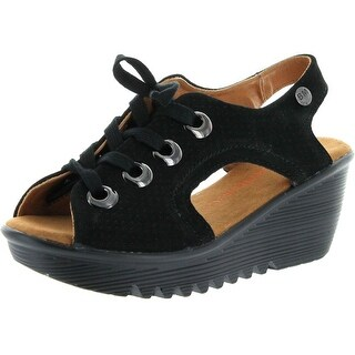 Bernie Mev Womens Marcello Leather Sandals - Black