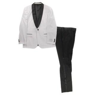 Ferrecci Mens Tuxedo Slim Fit Satin Trim - 42r