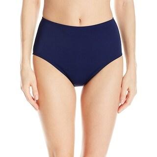 Jantzen NEW Blue Womens 16W Plus Tummy-Control Bikini Bottom Swimwear