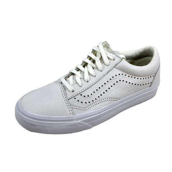 Shop Vans Men s Old Skool Reissue White Leather VN0A2XS61EF - Free ... 998cd105d
