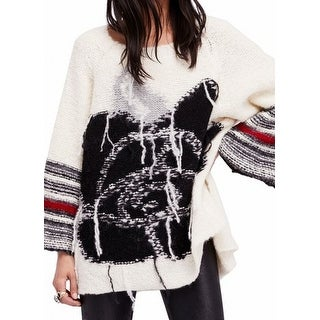 Free People NEW White Black Women's Size Small S Knitted Sweater