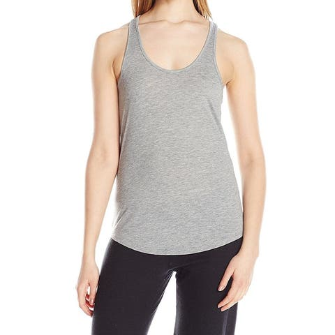 Alternative Gray Womens Size Large L Scoop-Neck Tank Knit Top