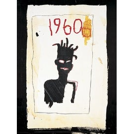 ''Untitled (1960), 1983'' by Jean-Michel Basquiat African American Art Print (15.75 x 11.875 in.)