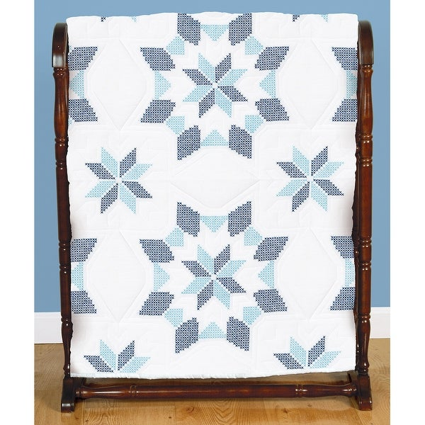 "Stamped White Quilt Blocks 18""X18"" 6/Pkg-Interlocking XX Western Star"