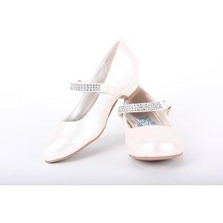 Embellished Satin Low-Heel Flat